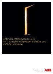 Einbruch-Meldesystem L240 mit Zutrittskontrollsystem SafeKey und ...