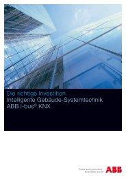 Die richtige Investition Intelligente Gebäude-Systemtechnik ABB i ...