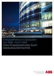 Energieeffizienz in Gebäuden mit ABB i-bus® KNX Hohe ...