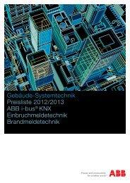 Gebäude-Systemtechnik Preisliste 2012/2013 ABB i-bus® KNX ...