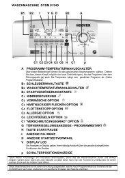 WASCHMASCHINE DYSM 8134D B1 B2 IVGD B3 A C1 C2 ... - Quelle