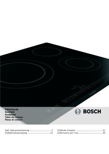 PIE645Q14E Kochfeld Kookplaat Table de cuisson Piano di ... - Quelle