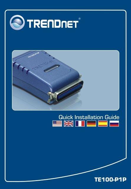 TE100-P1P Quick Installation Guide - TRENDnet