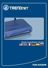 Guide d'installation rapide - Downloads - TRENDnet