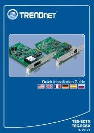Quick Installation Guide - Downloads - TRENDnet
