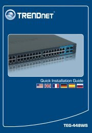 TEG-448WS Quick Installation Guide - Downloads - TRENDnet