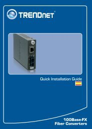Quick Installation Guide 100Base-FX Fiber Converters - TRENDnet