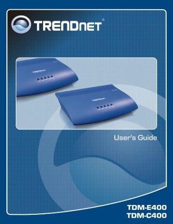 User's Guide - TRENDnet