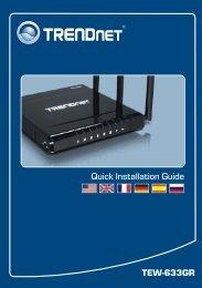 TEW-633GR Quick Installation Guide - TRENDnet