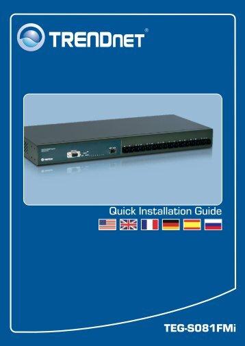 TEG-S081FMi Quick Installation Guide - TRENDnet