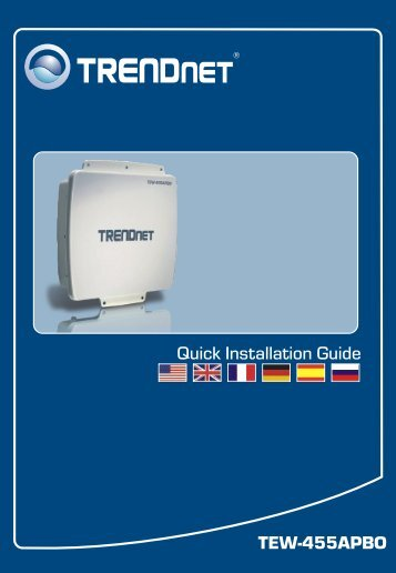 TEW-455APBO Quick Installation Guide - TRENDnet