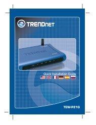 TEW-P21G Quick Installation Guide - TRENDnet