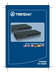 TK-804R TK-1604R Quick Installation Guide - TRENDnet