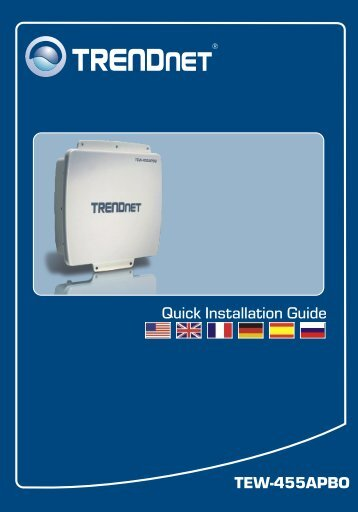TEW-455APBO Quick Installation Guide - TRENDnet