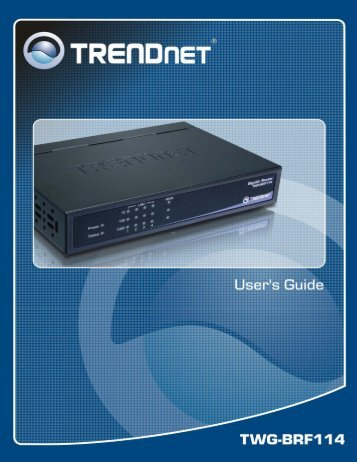 Broadband Router - TRENDnet
