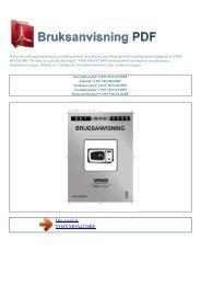Instruktionsbok VOSS MOA4226RF - BRUKSANVISNING PDF
