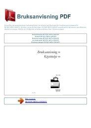 Instruktionsbok HUSQVARNA QSG653 - BRUKSANVISNING PDF