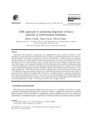 ADE approach to predicting dispersion of heavy particles in wall ...
