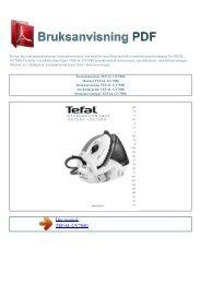 Instruktionsbok TEFAL GV7080 - BRUKSANVISNING PDF