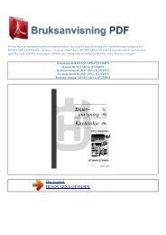 Instruktionsbok HUSQVARNA QT3549FX - BRUKSANVISNING PDF