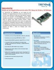 Tarjeta de red Gigabit Ethernet de cobre PCI, Nway de ... - TRENDnet