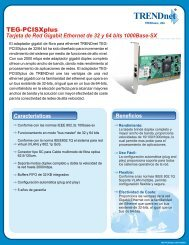 Tarjeta de Red Gigabit Ethernet de 32 y 64 bits ... - TRENDnet