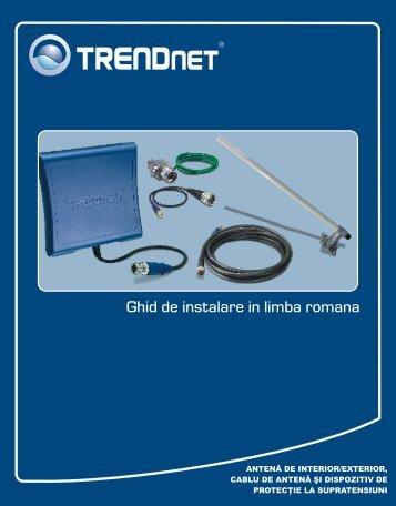 Ghid de instalare in limba romana - TRENDnet