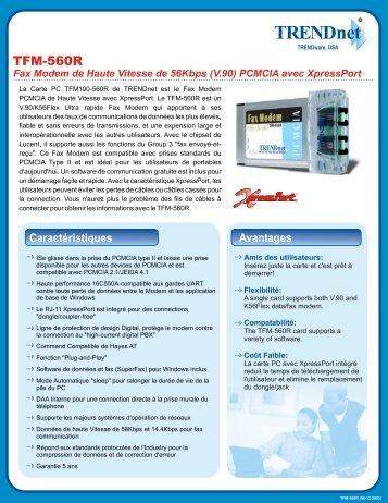 (V.90) PCMCIA avec XpressPort - Downloads - TRENDnet