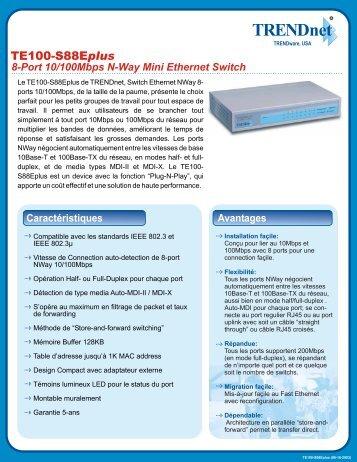 S88Eplus 8-Port 10/100Mbps N-Way Mini Ethernet Switch