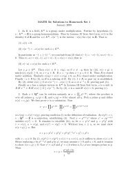 MATH 5b; Solutions to Homework Set 1 January 2009 1. As K is a ...