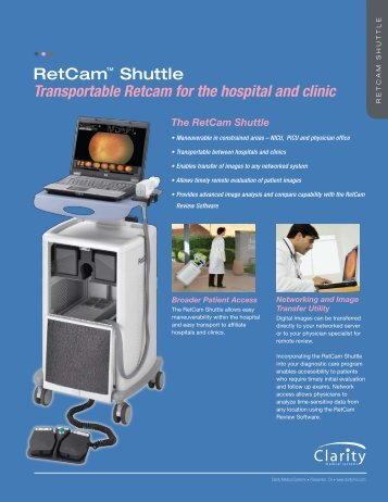 The RetCam Shuttle - Clarity Medical Systems