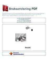 Instruktionsbok PHILIPS 55PFL8007T - BRUKSANVISNING PDF