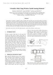 A Sensitive Skin Using Wireless Tactile Sensing Elements