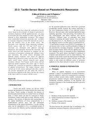 Tactile Sensor Based on Piezoelectric Resonance - Responsive ...