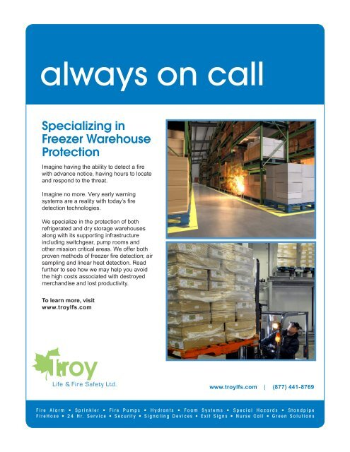 Freezer Warehouse Protection Pdf Troy Life Fire Safety