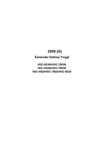 2009 (G) Kamkoder Definisi Tinggi - Panasonic Press Room