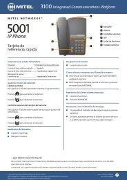 5001/5005 IP Phone Tarjeta de consulta rápida - Mitel Edocs
