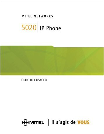 5020 IP Phone Guide de l'usager - Mitel Edocs