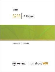 5235 IP Phone Manuale d'utente - Mitel Edocs