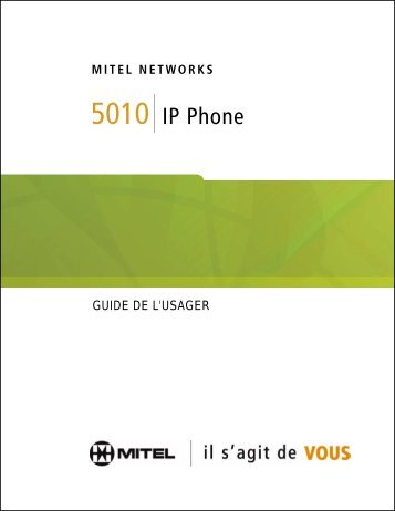 5010 IP Phone Guide de l'usager - Mitel Edocs