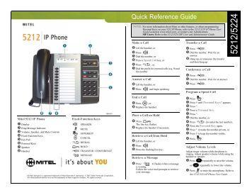 mitel 5320e quick reference guide