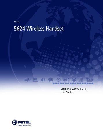 Mitel 5624 Wireless Handset User Guide - Mitel Edocs