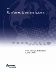 5330/5340 IP Phone Guide de l'usager - Mitel Edocs