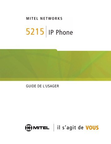 5215 IP Phone Guide de l'usager - Mitel Edocs