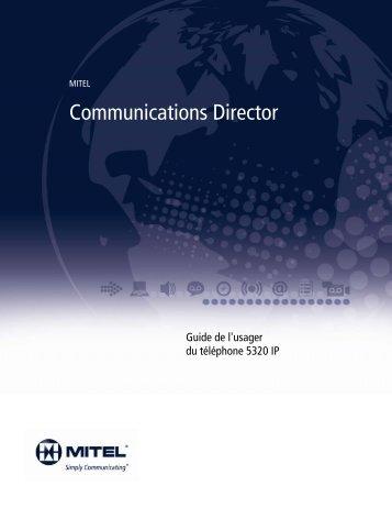 5320 IP Phone Guide de l'usager - Mitel Edocs
