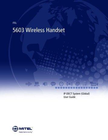 5603 Wireless Handset - Mitel Edocs