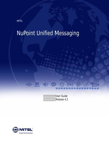 NuPoint Unified Messaging - Mitel Edocs