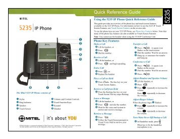 5240 quick reference guide template mitel edocs