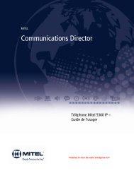 5360 IP Phone Guide de l'usager - Mitel Edocs