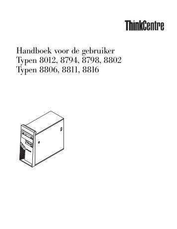 Handboek voor de gebruiker - Lenovo